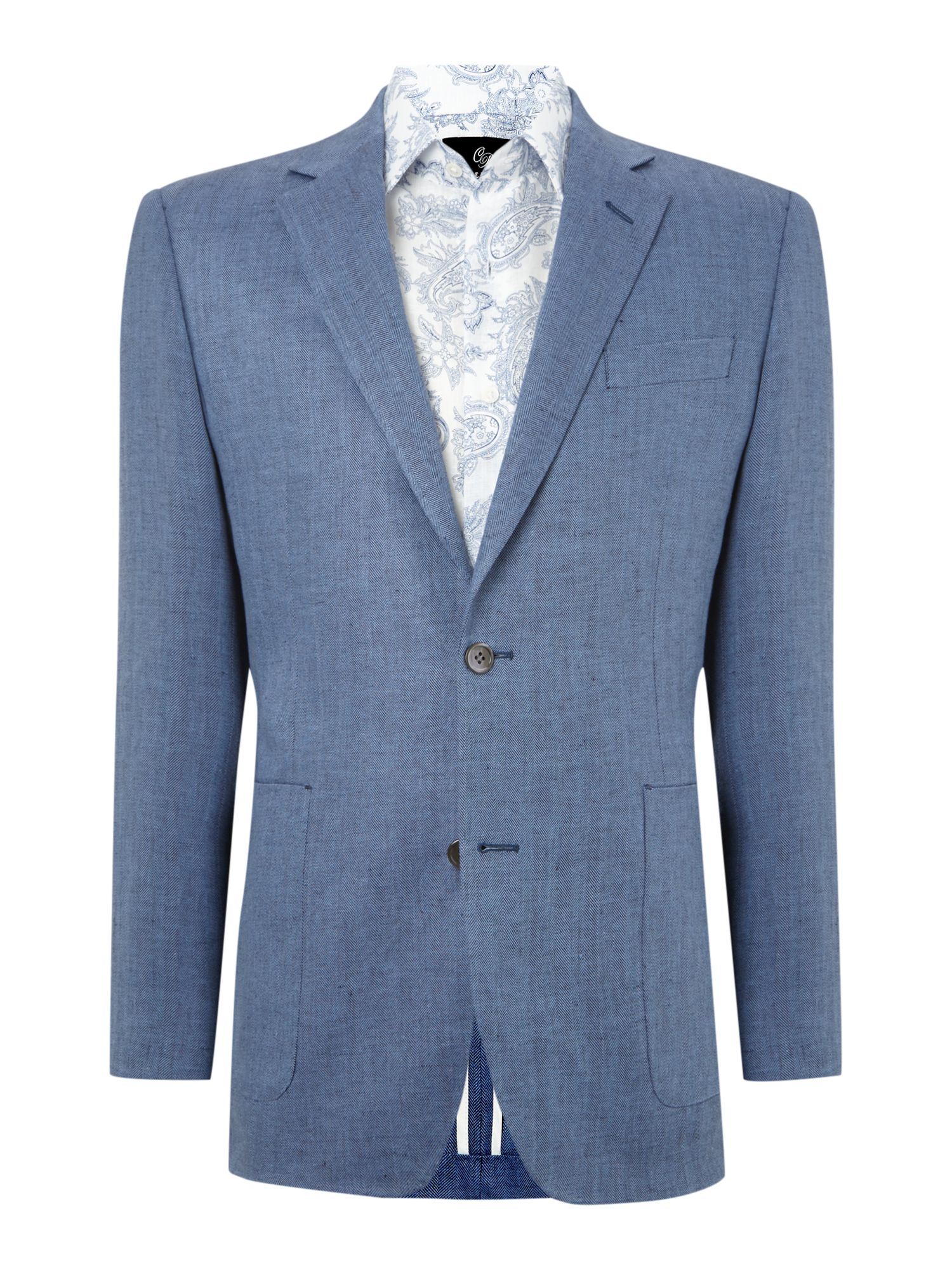 Herringbone formal blazer