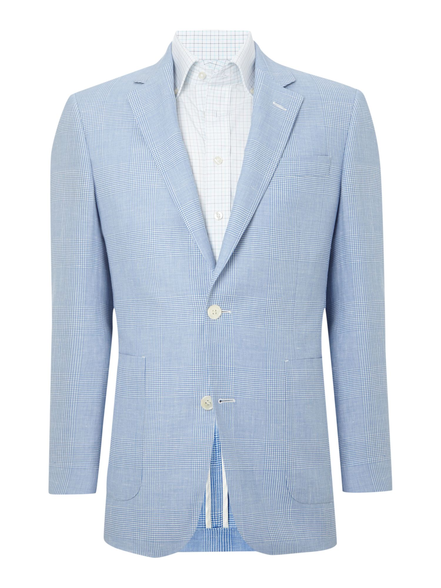 Prince of wales check formal blazer