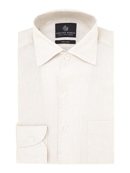 Chester Barrie Revere classic fit linen shirt