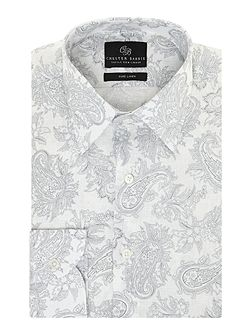 Peter paisley long sleeve shirt