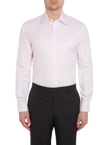 Chester Barrie Plain Tailored Long Sleeve Classic Collar Shirt