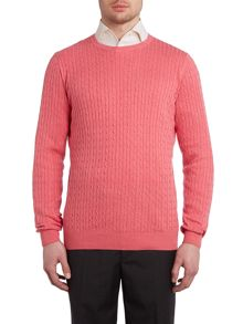 Chester Barrie Cotton cashmere cable knit jumper