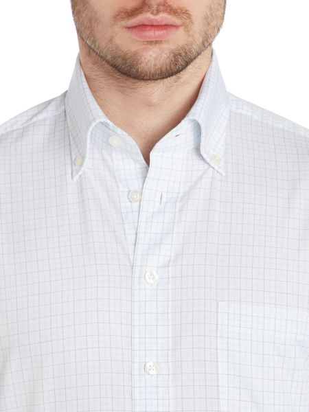 Chester Barrie Graph check button down shirt