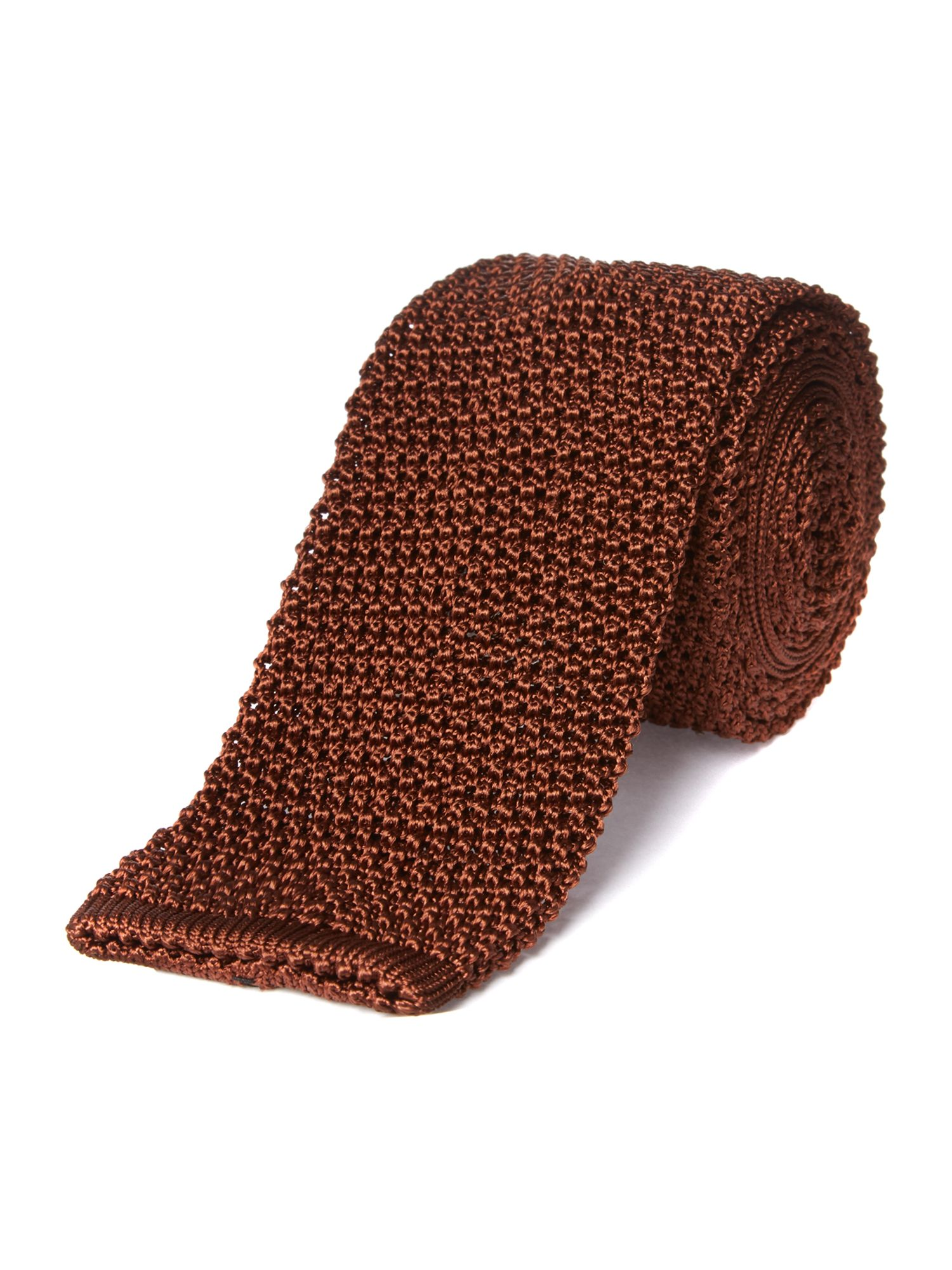 Luxury plain knitted tie