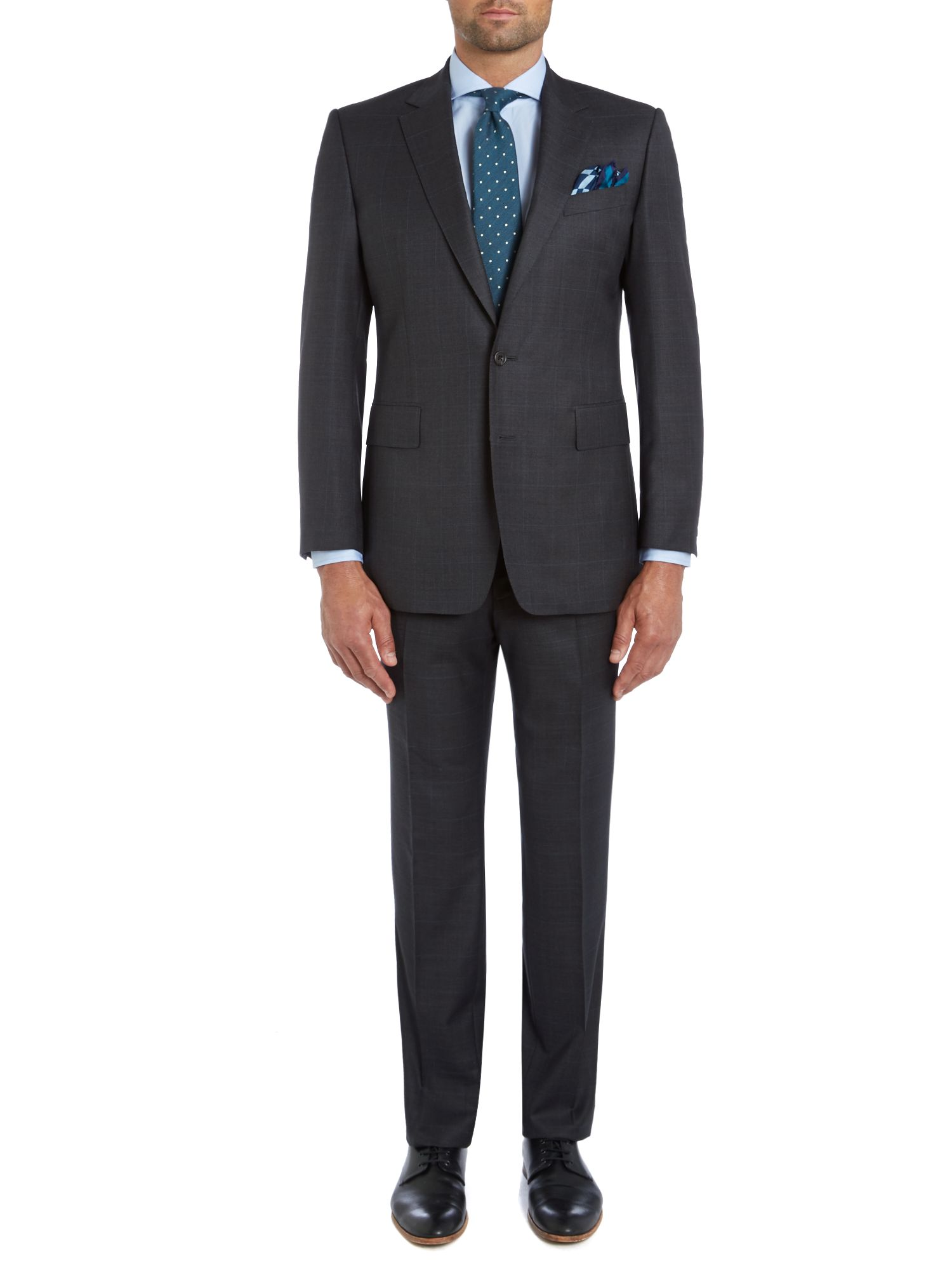 Albemarle windowpane check suit