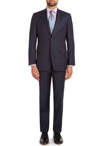 Chester Barrie Herringbone Notch Collar Tailored Fit Suit