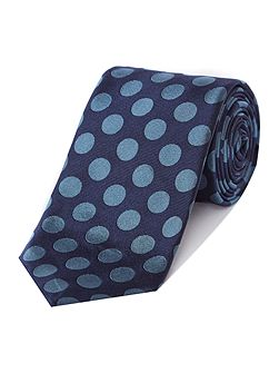 Chester Barrie Large spot silk tie