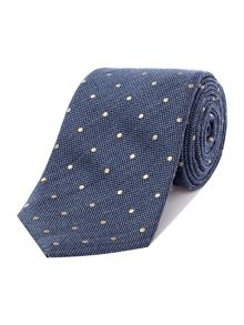 Spot wool and silk tie