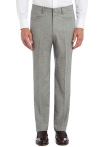 Houndstooth Tailored Wool Trouser
