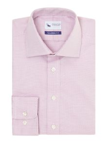 Chester Barrie Tailored Fit Dobby Weave Classic Collar Shirt