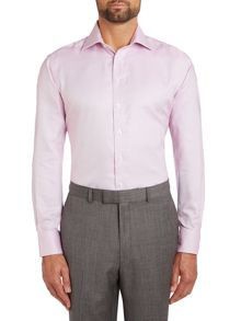 Tailored Fit Dobby Weave Classic Collar Shirt