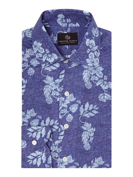 Chester Barrie Floral Tailored Fit Long Sleeve Shirt