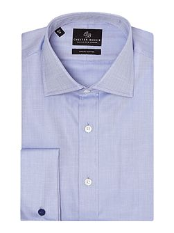 Herringbone Tailored Fit Formal Shirt