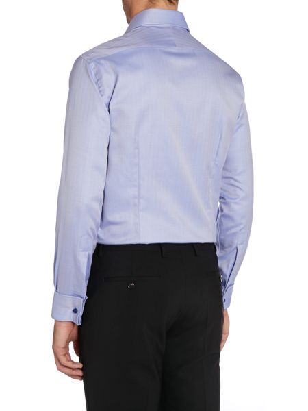 Chester Barrie Herringbone Tailored Fit Formal Shirt