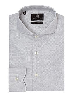 Plain Tailored Fit Cutaway Collar Formal Shirt