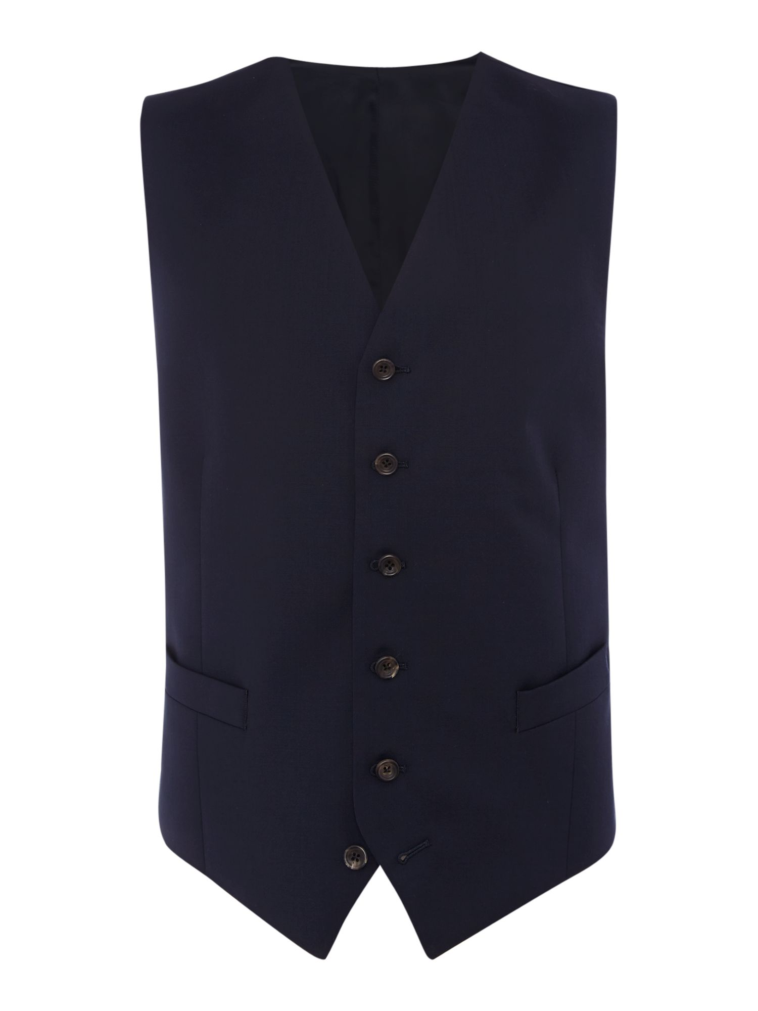 Men's Chester Barrie Plain Tailored Fit Waistcoat, Navy