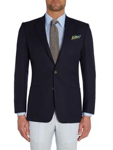 Basketweave Button Blazer