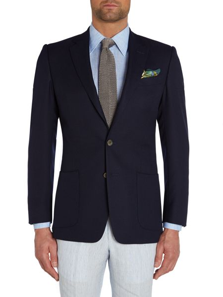 Chester Barrie Basketweave Button Blazer