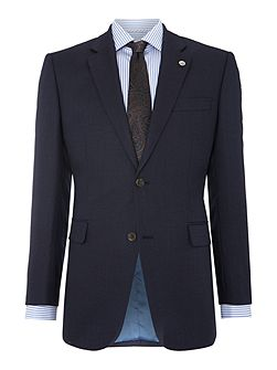 Birdseye Tailored Fit Single Breasted Jacket