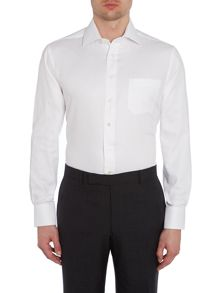 Chester Barrie Plain Tailored Fit Long Sleeve Classic Collar Shi