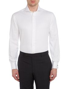 Plain Tailored Fit Long Sleeve Cutaway Collar Shi