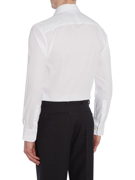 Chester Barrie Plain Tailored Fit Long Sleeve Classic Shirt