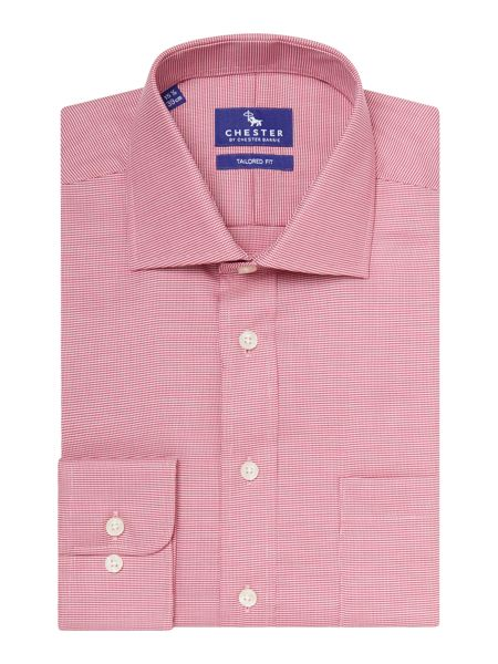 Chester Barrie Gingham Tailored Fit Long Sleeve Shirt