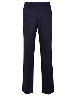 Birdseye Tailored Fit Suit Trousers