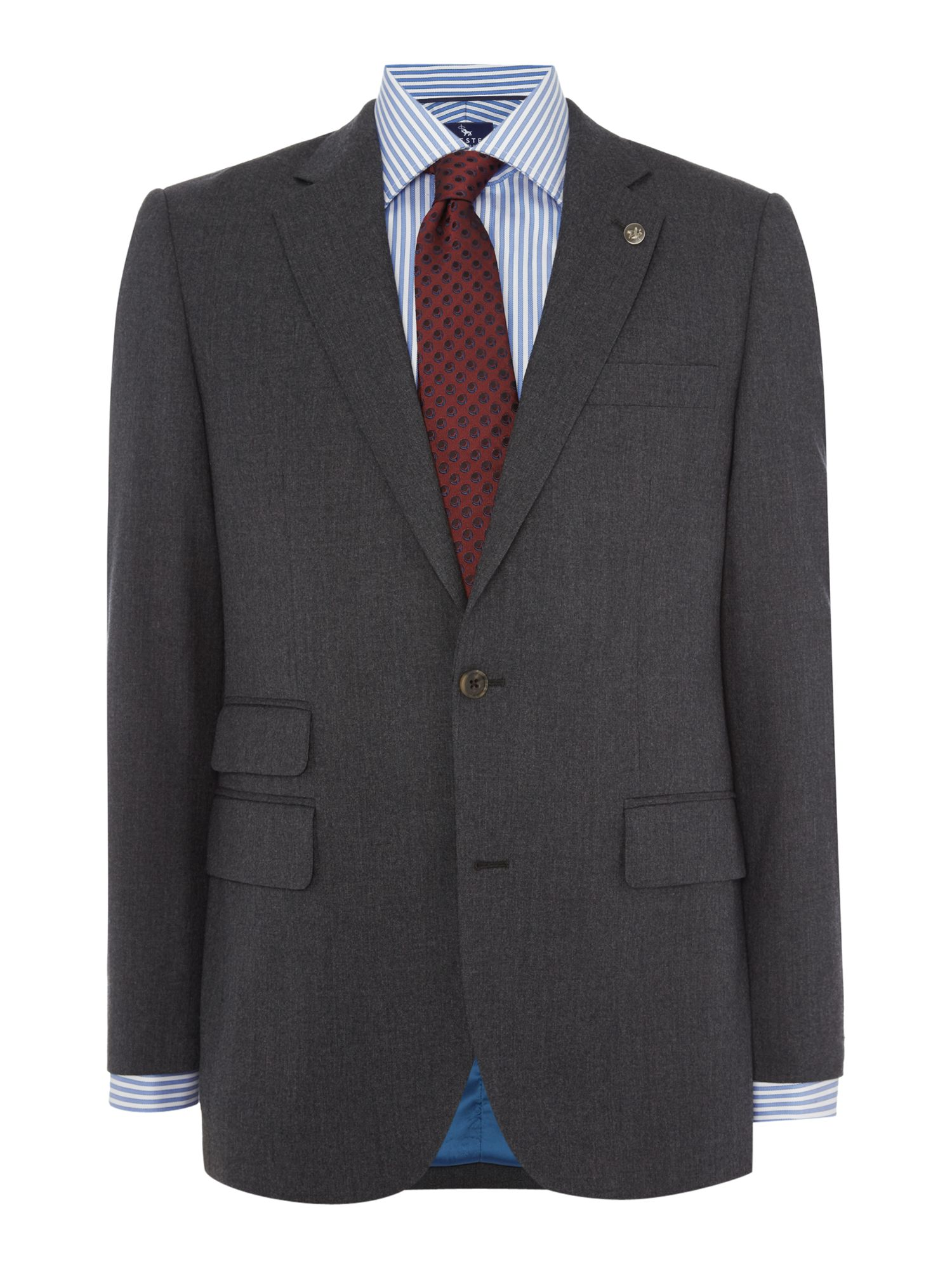 Chester Barrie Men's Chester Barrie Flannel Jacket, Charcoal