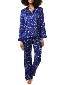 Bluebella Bluebella celeste shirt and trouser set