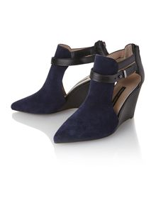 Blyss wedge cut-out ankle boots