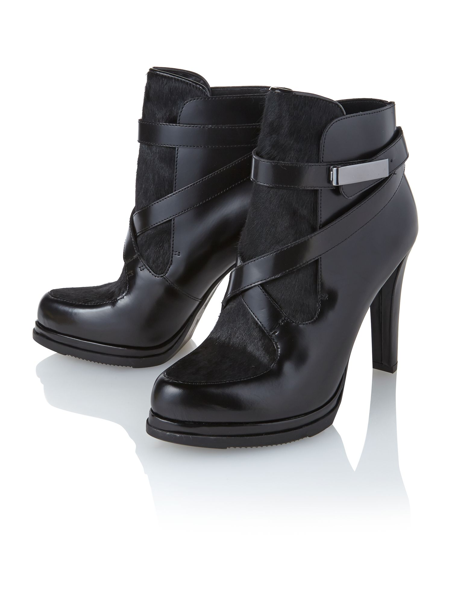 Serena heel and platform ankle boots