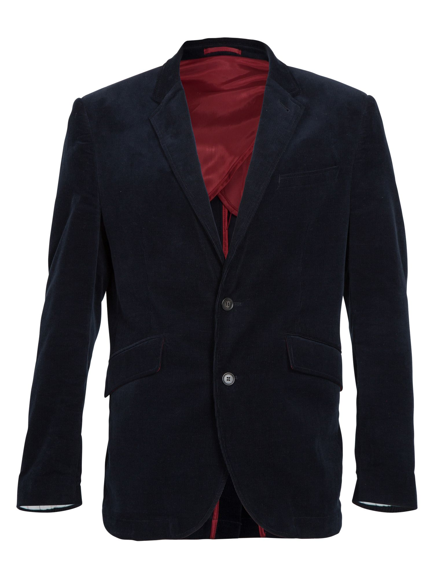 Rb corded blazer navy