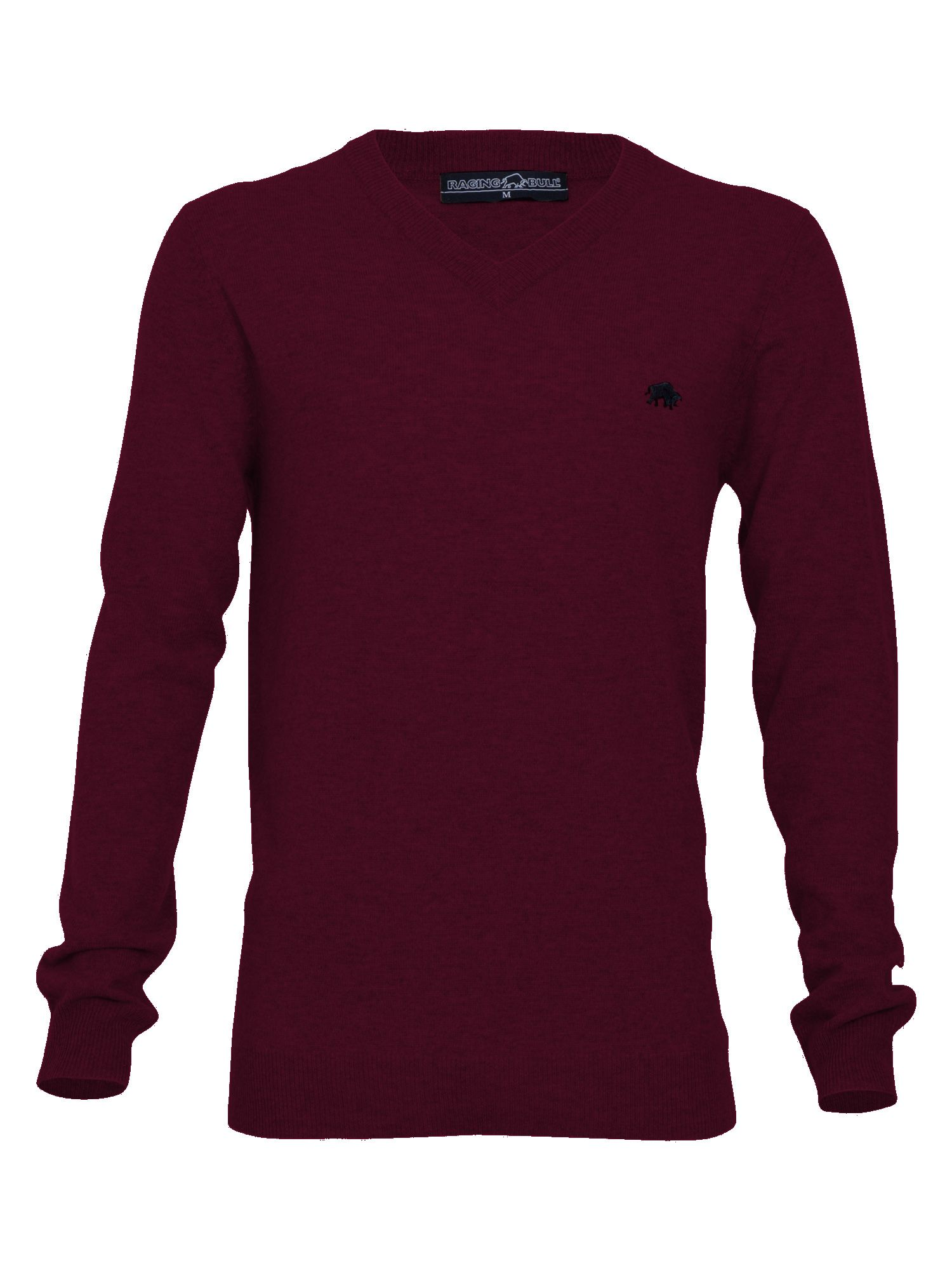 V-neck sweater claret