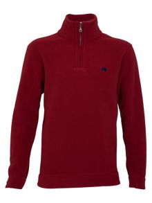 Big and tall 1/4 zip fleece claret