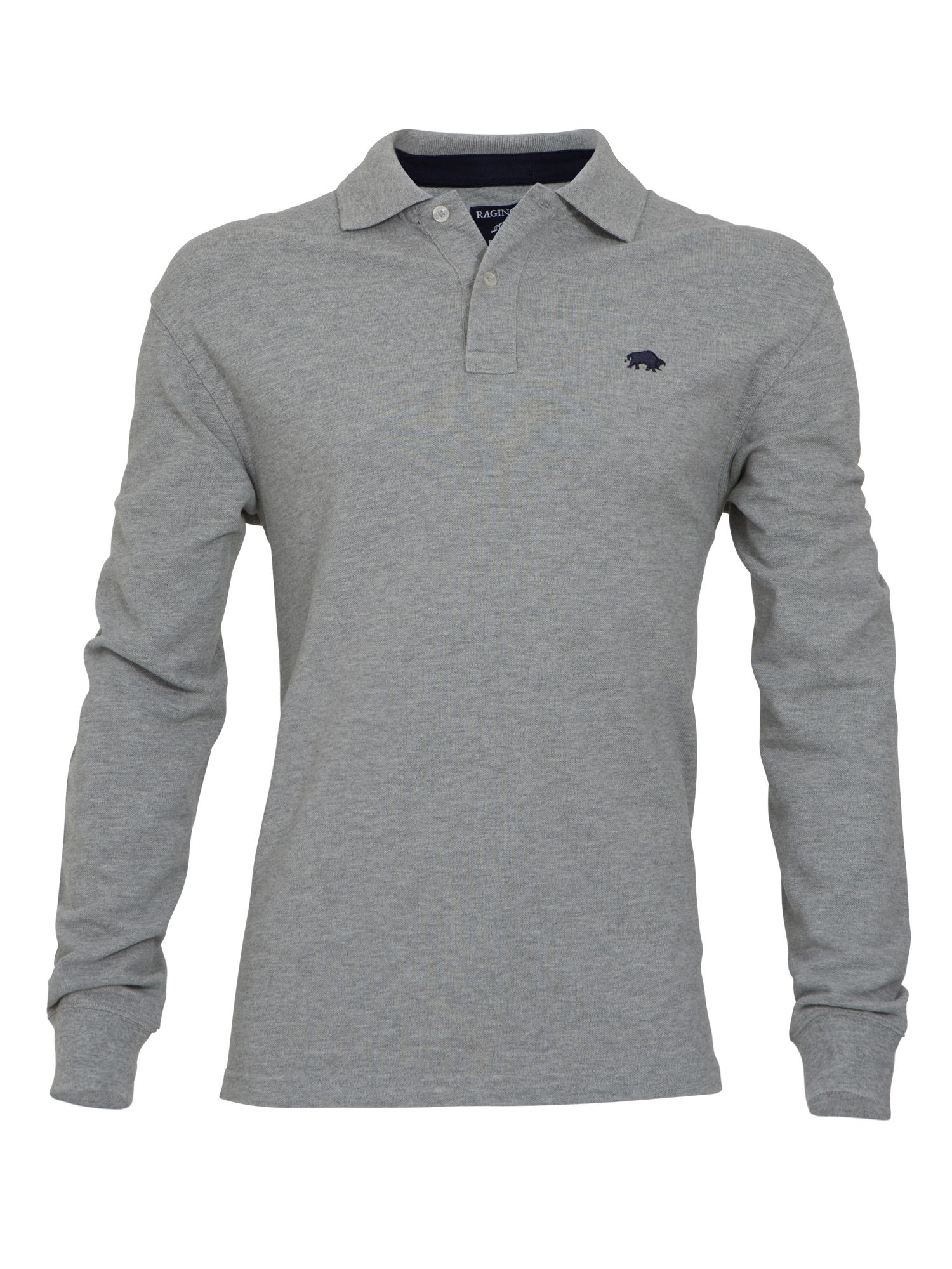 Signature polo l/s grey