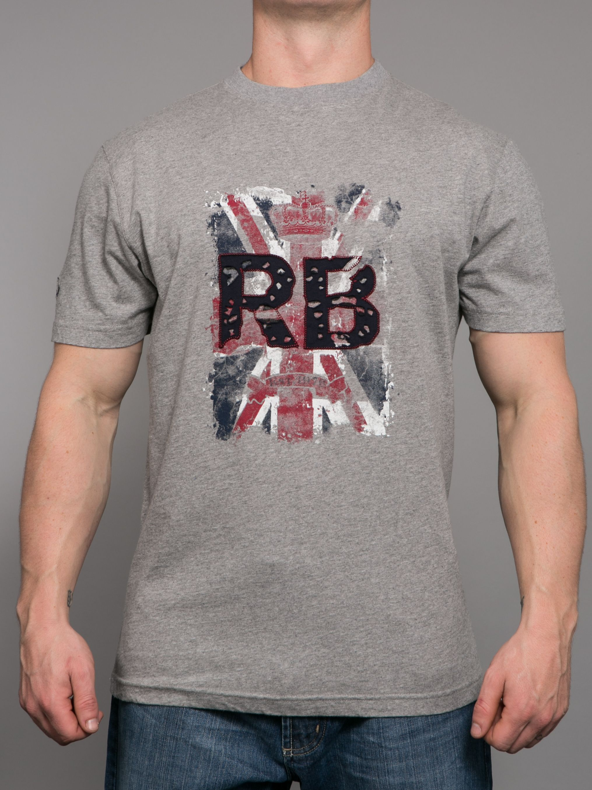 Big and Tall Union Jack crew neck t-shirt