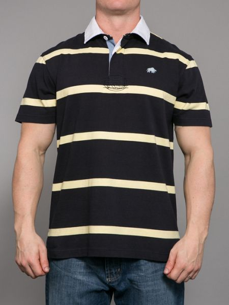 Raging Bull Stripe Rugby Shirt