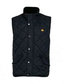 Raging Bull Big and Tall Casual lightweight quilted zip gilet