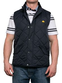 Big and Tall Casual lightweight quilted zip gilet