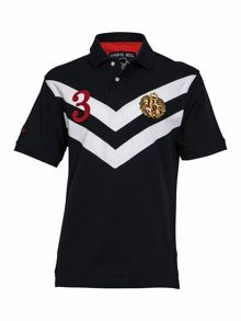 Big And Tall No3 Chevron Embellished Polo Shirt