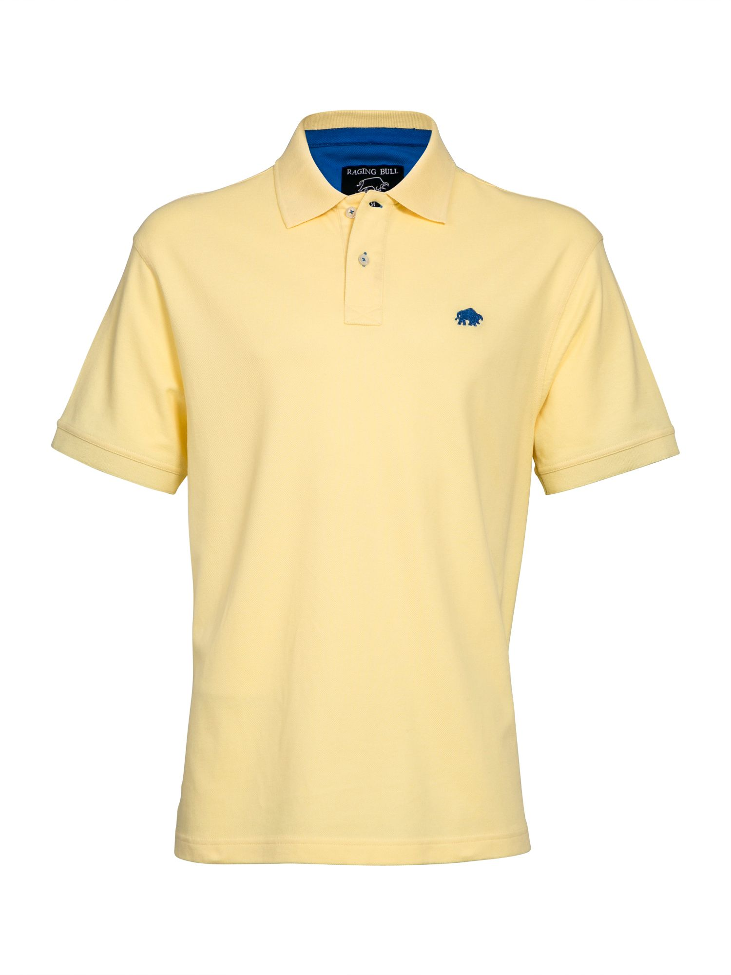 Men's Raging Bull New Signature Polo Shirt, Lemon