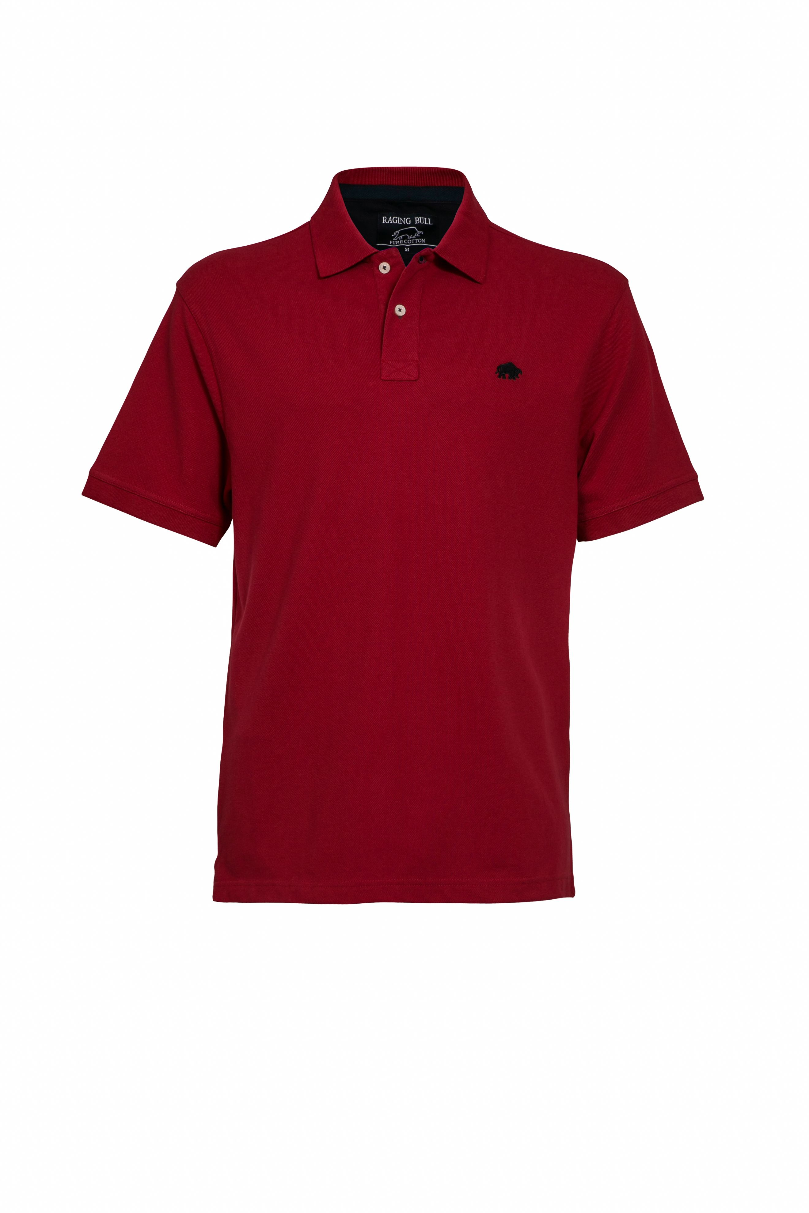 Men's Raging Bull New Signature Polo Shirt, Red
