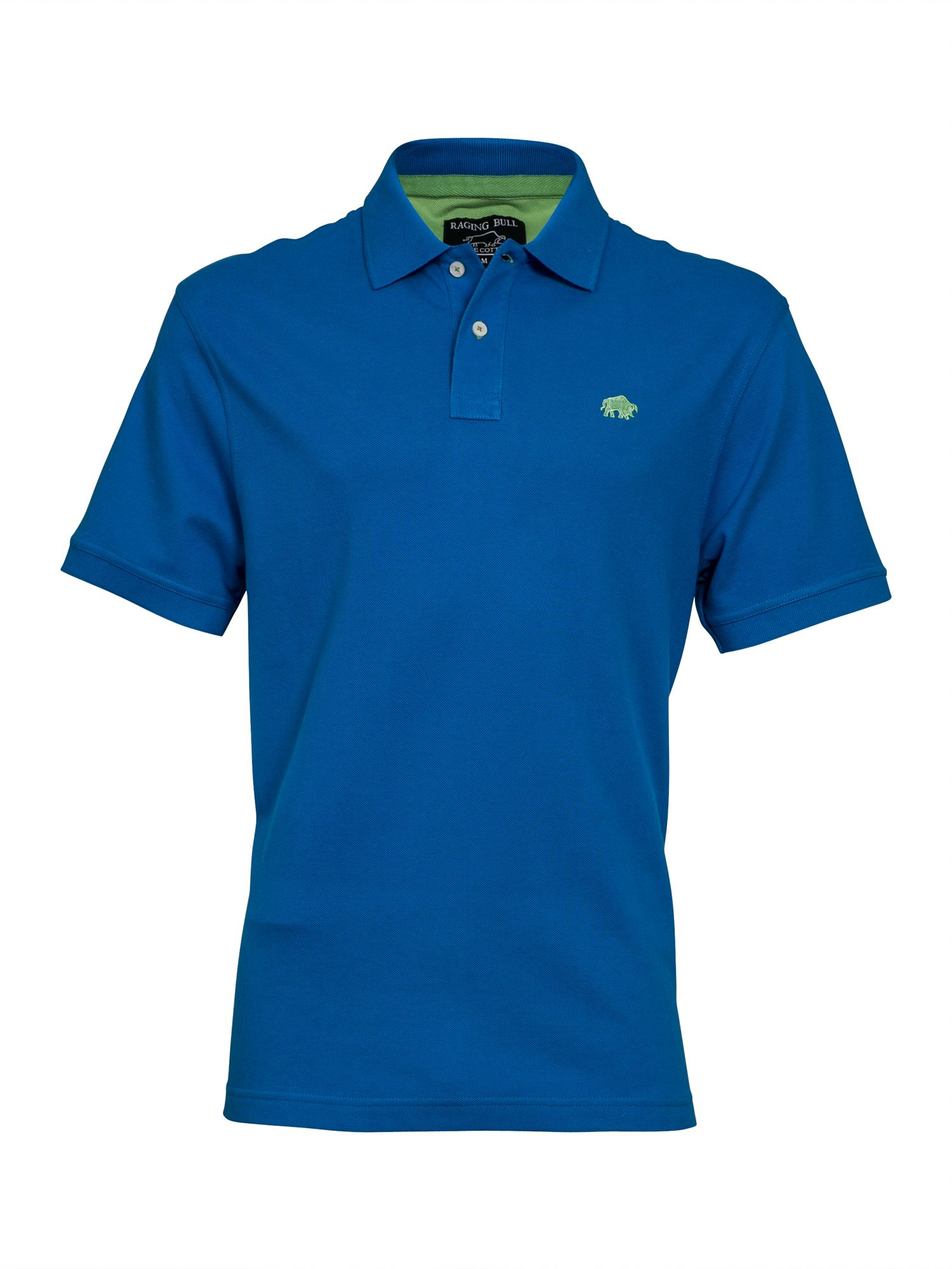 Men's Raging Bull New Signature Polo Shirt, Cobalt