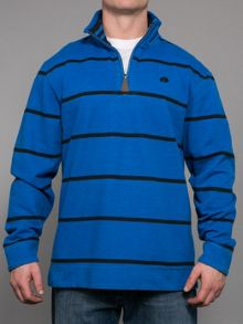 Raging Bull Stripe quarter zip neck hoodie