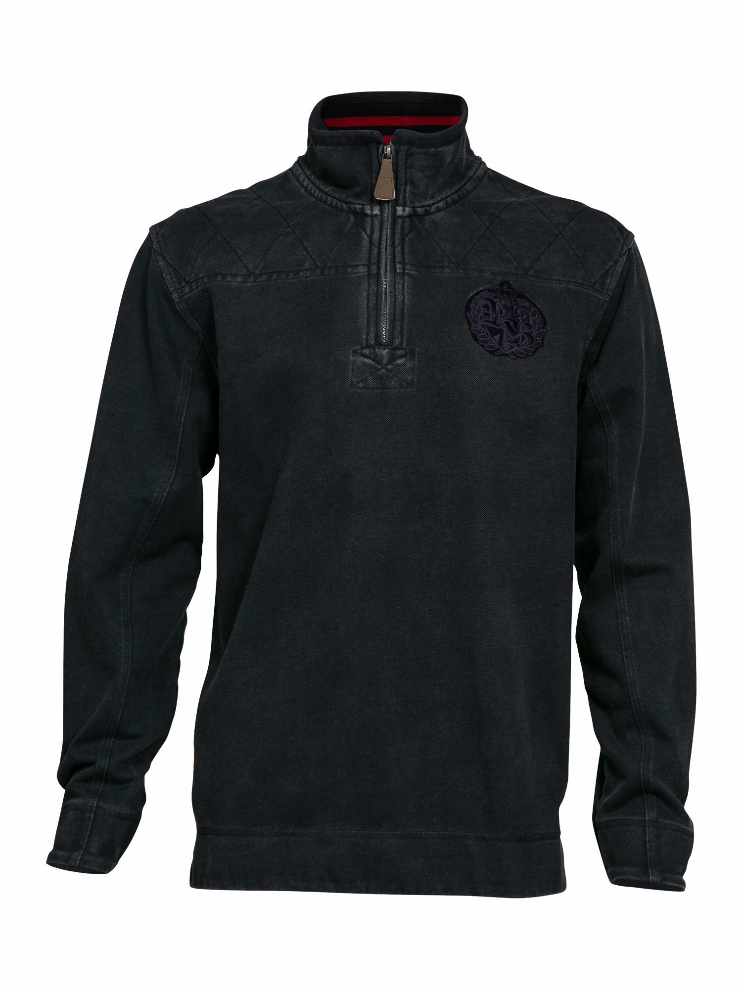 Big and Tall Emroidered quarter zip neck hoodie