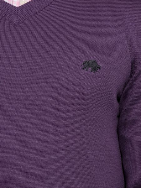 Raging Bull Big and Tall Pima cotton v-neck jumper