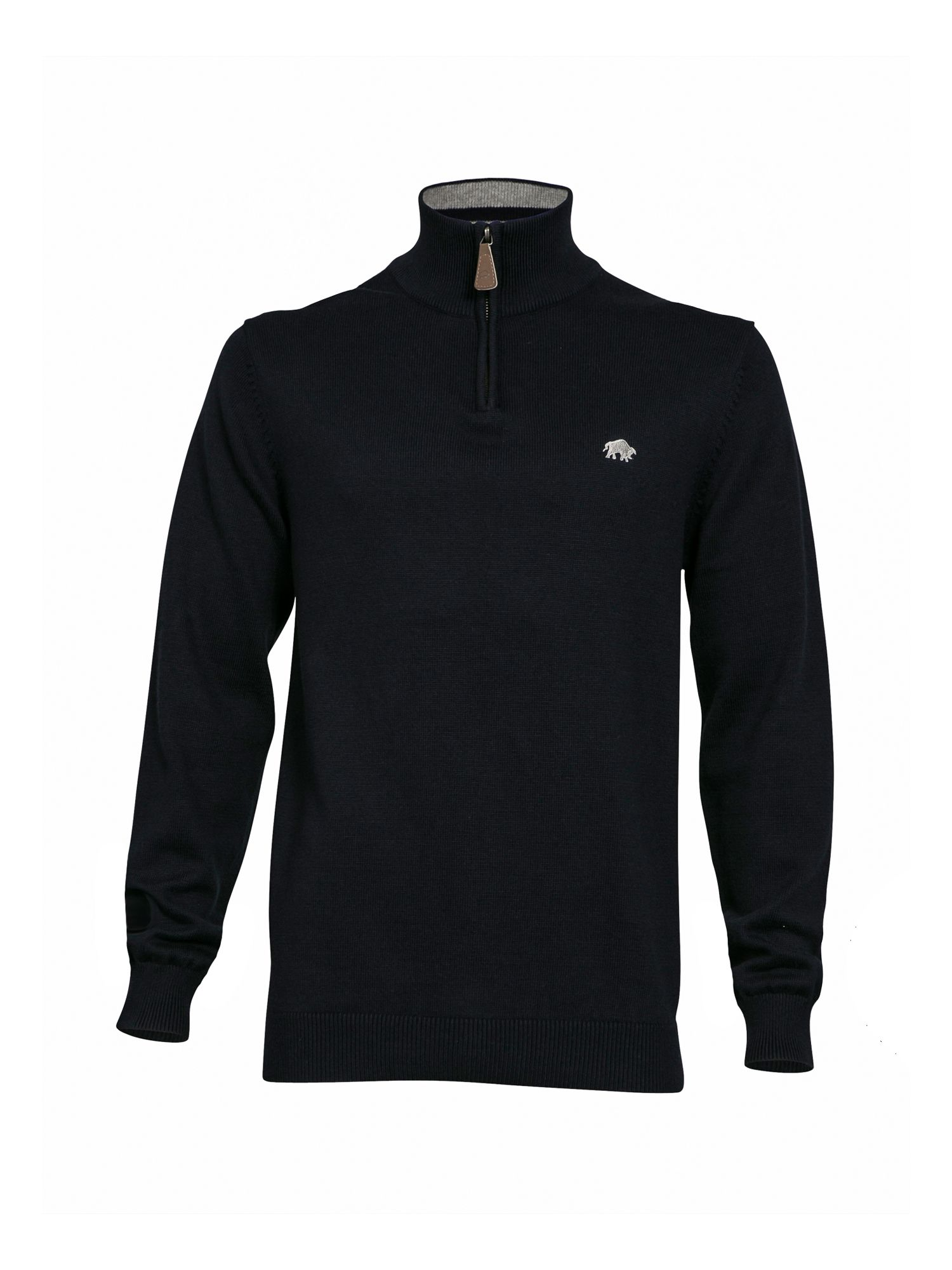 Mens Raging Bull Big & Tall Knitted Quarter Zip Neck Navy