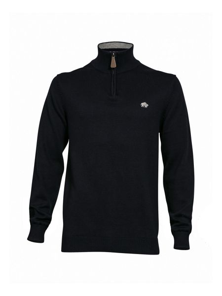 Raging Bull Big and Tall Knitted quarter zip neck