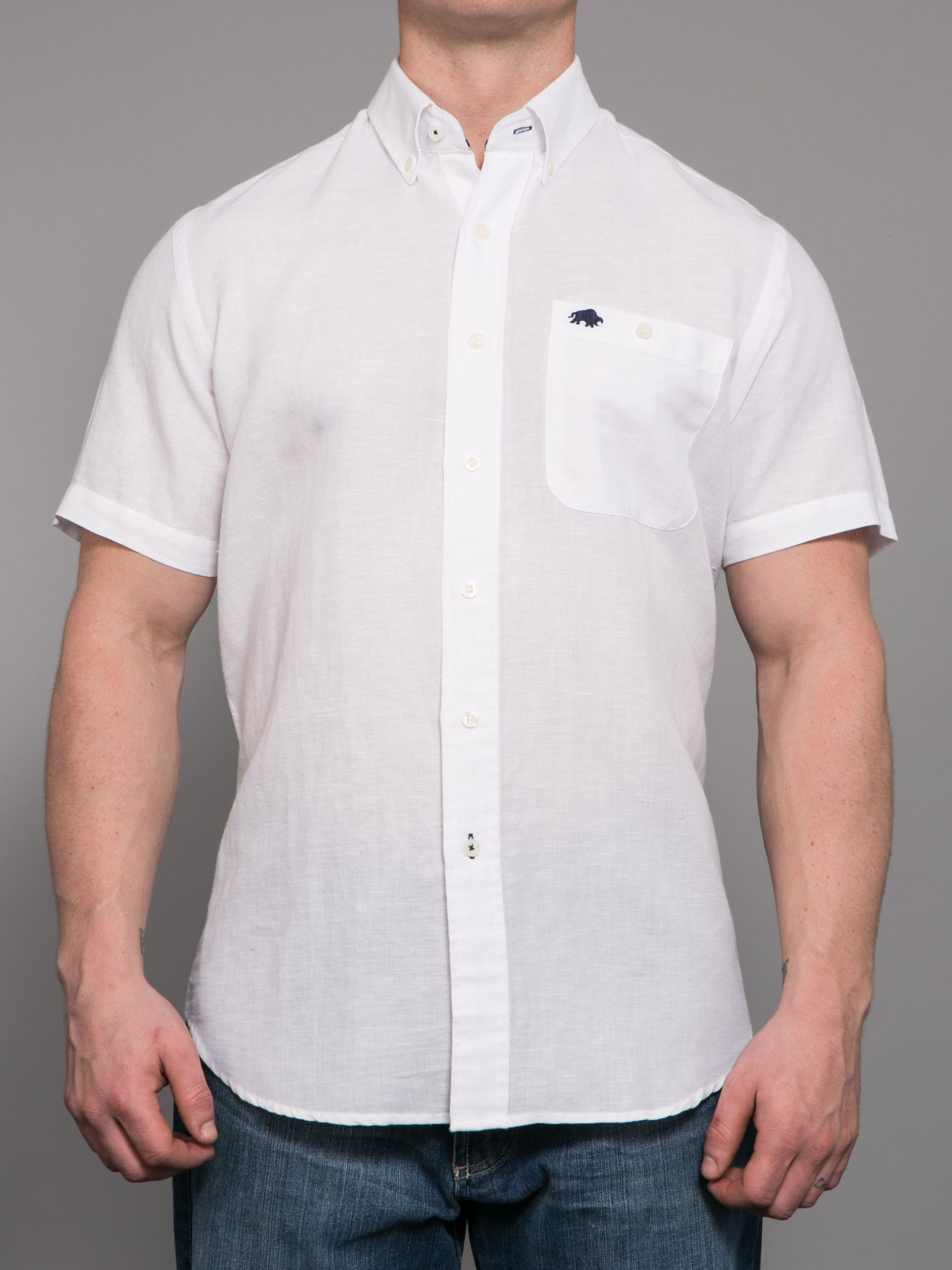 Big and Tall Short sleeve linen shirt